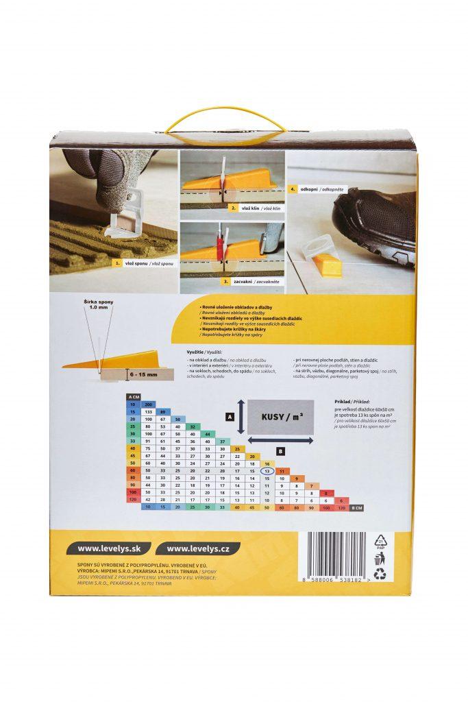 Vyrovnávací spony na dlažbu | Levelys